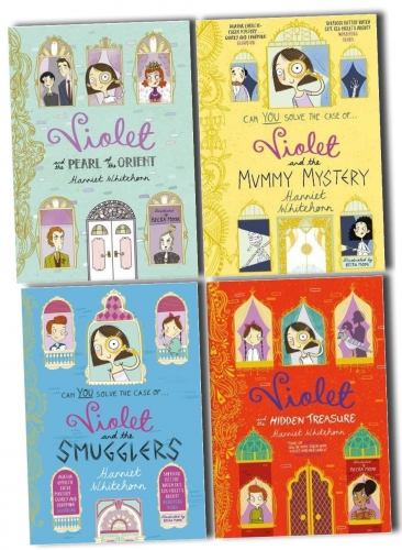 Harriet Whitehorn Violet Series 4 Books Collection Set The Pearl of Orient The Hidden Treasure The Smugglers The Mummy Mystery by Harriet Whitehorn