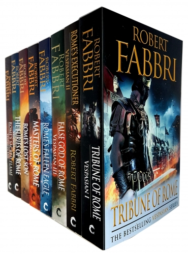 Robert Fabbri Vespasian Series 8 Books Collection Set - Furies of Rome, Romes Fallen Eagle, Romes Executioner, Sacred Flame, Lost Son and More by Robert Fabbri