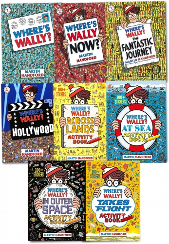 Wheres Wally Amazing Adventures and Activities 8 Books Bag Collection Set by Martin Handford