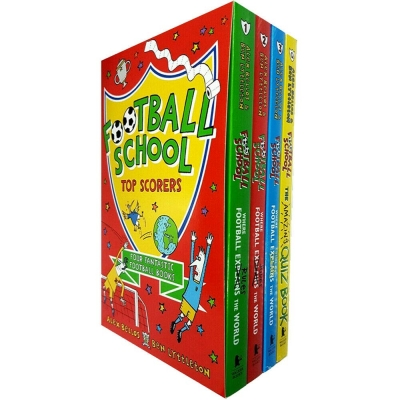 Football School Series Top Scorers 4 Books Collection Box Set By Alex Bellos & Ben Lyttleton (Where Football Rules, Saves, Tackle, Quiz Book) by Alex Bellos & Ben Lyttleton
