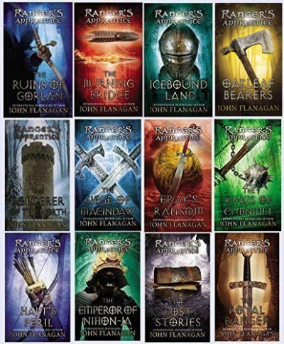 John Flanagan Rangers Apprentice Series Collection 12 Books Set Book 1-12 by John Flanagan