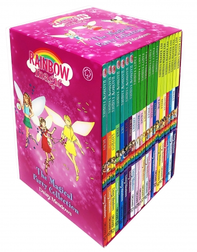 Rainbow Magic The Magical Party Collection 21 Books Set Rainbow Fairies Book 1-7, Party Fairies Book 1-7, Pet Keeper Fairies Book 1-7 by Daisy Meadows
