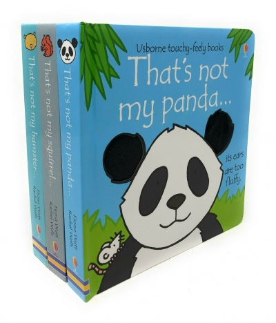 That's Not My Animals 3 Books Collection Set Pack (Panda, Squirrel, Hamster) (Touchy-Feely Board Books) by Fiona Watt and Rachel Wells