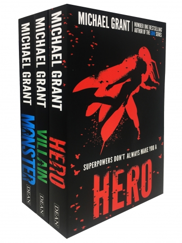 The Monster Series 3 Books Collection Set by Michael Grant Hero, Villain, Monster by Michael Grant