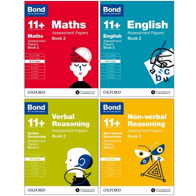 Bond 11+ English, Maths, Non-verbal Reasoning, Age 10-11 Verbal Reasoning Assessment Papers 4 Books Set Book 2 Age 10-11+ by Bond