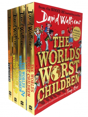 David Walliams Worlds Worst Children 4 Books Collection Set - Worlds Worst Children 1, WWC 2, WWC 3, Worlds Worst Teachers by David Walliams