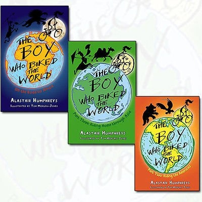 The Boy Who Biked the World Collection Alastair Humphreys 3 Books Bundle - On the Road to Africa, Riding the Americas, Riding Home Through Asia Part 3 by Alastair Humphreys