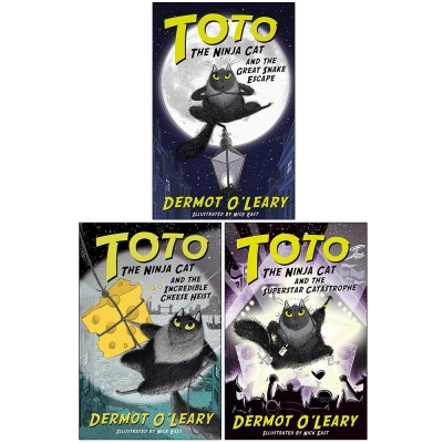 Toto The Ninja Cat Series 3 Books Collection Set - The Incredible Cheese Heist, The Great Snake Escape, The Superstar Catastrophe by