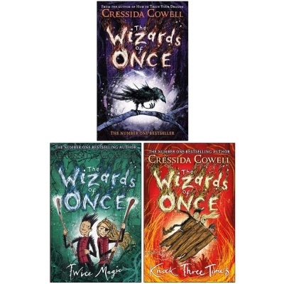 The Wizards of Once Series 3 Books Collection Set - The Wizards of Once, Twice Magic, Knock Three Times by Cressida Cowell