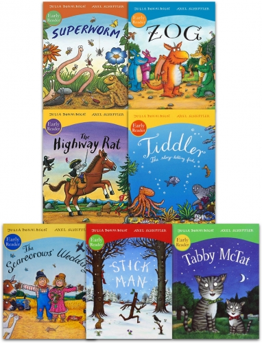 Julia Donaldson and Axel Scheffler Early Readers 7 Books Collection Set by Julia Donaldson and Axel Scheffler