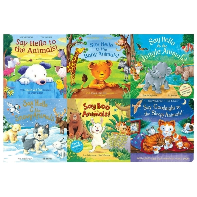 Say Hello to the Animals 6 Books Collection Set - Children Picturebook, Nursery Books, Pictureflat Books by Ian Whybrow and Tim Warnes