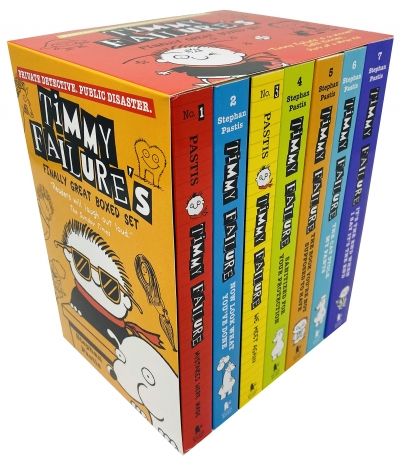 Timmy Failures Finally Great Boxed Set Volume 1 - 7 Books Collection Series by Stephan Pastis by Stephan Pastis