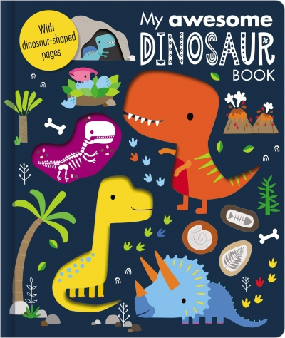 My Awesome Dinosaur Book With Dinosaur Shaped Pages Children Book by Make Believe Ideas