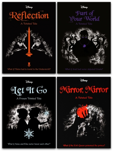Disney Twisted Tales Collection 4 Books Set by Liz Braswell Series 2 - Part Of Your World, Reflection, Mirror Mirror, Let it Go by Liz Braswell, Elizabeth Lim, Jen Calonita