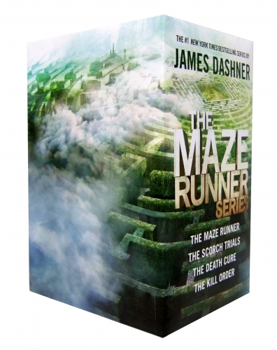 James Dashner Maze Runner Series 4 Books Collection Box Set The Maze Runner Scorch Trials Death Cure The Kill Order with an Exclusive Poster by James Dashner