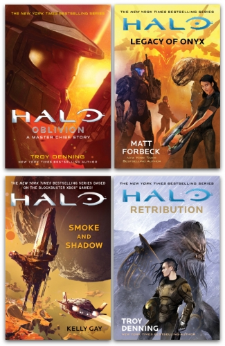 Halo Master Chief 4 Books Collection Set Smoke and Shadow, Legacy of Onyx, Retribution, Oblivion by Various