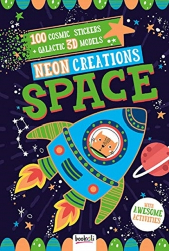 Neon Creations Space 100 Cosmic Stickers Galactic 3D Models by Bookoli