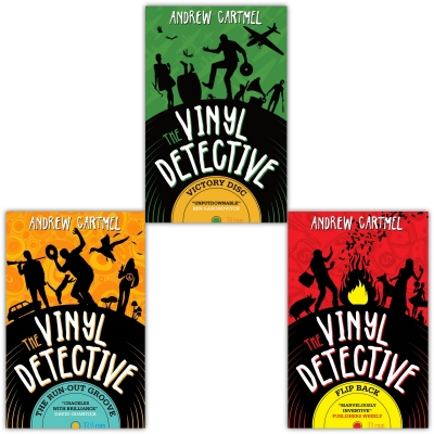 Andrew Cartmels The Vinyl Detective 3 Books Set - Flip Back - The Run-Out Groove - Victory Disc by Andrew Cartmel