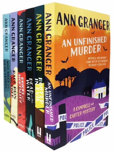 Ann Granger Campbell Carter Mystery 6 Books Collection - Mud Muck and Death Things, Bricks and Mortality, Rack Ruin and Murder, Rooted in Evil by Ann Granger