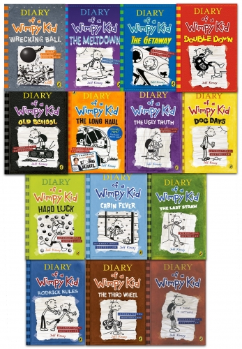 Diary of a Wimpy Kid Collection 14 Books Set Wrecking Ball, Meltdown, Getaway by Jeff Kinney