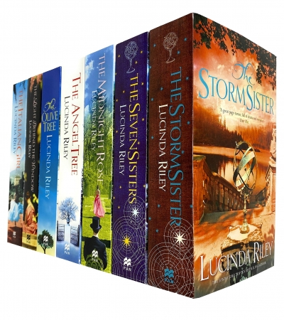 Lucinda Riley 7 Books Collection Set Seven Sisters, Storm Sister, Midnight Rose, Angel Tree, Olive Tree by Lucinda Riley