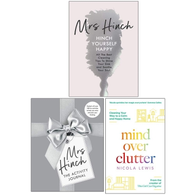 Mrs Hinch and Nicola Lewis Collection 3 Books Set The Activity Journal, Hinch Yourself Happy, Mind Over Clutter Books for Home Decorating by Mrs Hinch & Nicola Lewis