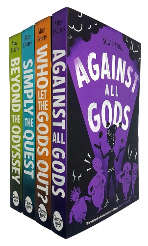 Who Let the Gods Out Series 4 Books Collection Set By Maz Evans Who Let the Gods Out Simply the Quest Beyond the Odyssey Against All Gods by Maz Evans