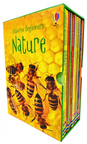 Usborne Beginners Nature 10 Books Box Set Collection Reptiles, Rainforests, Trees, How Flowers Grow, Spiders, Bugs, Ants by Various