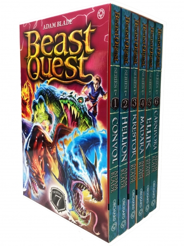 Beast Quest Series 7 6 Books Box Collection Pack Set The Lost World Books 37-42 by Adam Blade