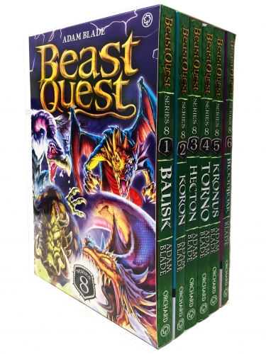 Beast Quest Series 8 6 Books Box Collection Pack Set Books 43-48 by Adam Blade