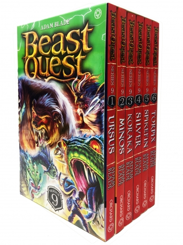 Beast Quest Series 9 6 Books Box Collection Pack Set Books 49-54 by Adam Blade
