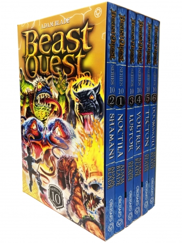 Beast Quest Series 10 6 Books Box Collection Pack Set (Books 55-60) by Adam Blade