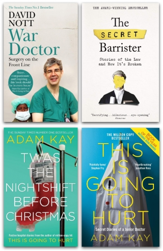 Twas The Nightshift Before Christmas, The Secret Barrister, This is Going to Hurt, War Doctor 4 Books Collection Set by The Secret Barrister, Adam Kay, David Nott