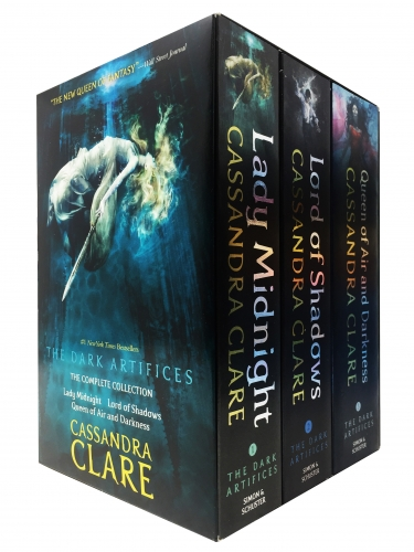 Cassandra Clare The Dark Artifices 3 Books Collection Box Set Lady Midnight, Lord of Shadows, Queen of Air and Darkness by Cassandra Clare
