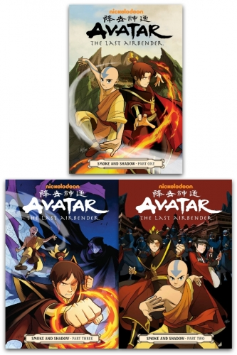 Avatar The Last Airbender Smoke and Shadow Series 3 Books Collection Set - Smoke and Shadow Part 1, Smoke and Shadow Part 2, Smoke and Shadow Part 3 by Gene Luen Yang