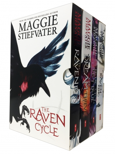 The Raven Cycle Series 4 Books Collection Box Set by Maggie Stiefvater The Raven King, Blue Lily Lily Blue, The Dream Thieves, The Raven Boys by Maggie Stiefvater