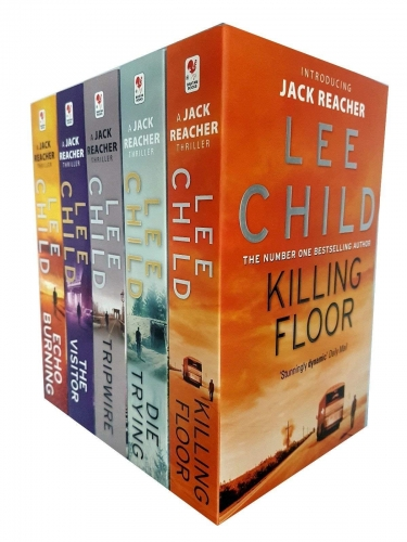 Lee Child Jack Reacher Series 1-5 Collection 5 Books Set - Killing Floor, Die Trying, Tripwire, The Visitor, Echo Burning by Lee Child