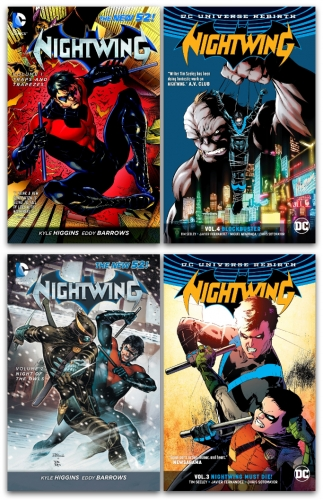 DC Universe Nightwing Series 4 Books Collection Set - Traps and Trapezes, Night of the Owls, Nightwing Must Die, Blockbuster by Kyle Higgins and Tim Seeley