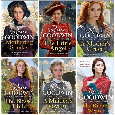 Days of the Week Series 6 Books Collection Set By Rosie Goodwin - Mothering Sunday, The Little Angel, A Mothers Grace, Blessed Child, Maidens Voyage by Rosie Goodwin