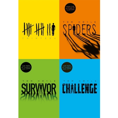 Tom Hoyle Collection 4 Books Set - Thirteen , Spiders , Survivor, The Challenge by Tom Hoyle