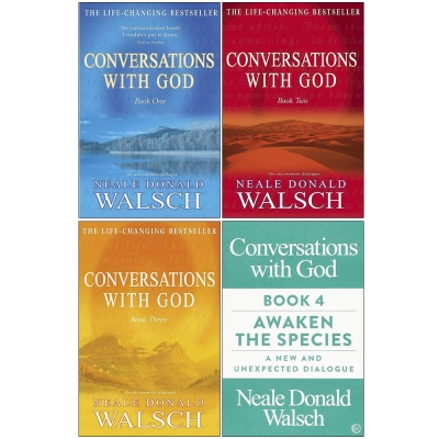 Conversations with God Neale Donald Walsch 4 Books Collection Set - Book 1, Book 2, Book 3, Awaken The Species by Neale Donald Walsch