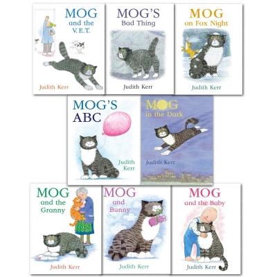 Mog The Cat Books Series 8 Books Collection Set Pack By Judith Kerr - Mog and The Baby, Mogs ABC, Mog in the Dark, Mog and Bunny, Mog on Fox Night by Judith Kerr