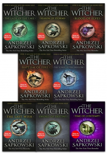 Andrzej Sapkowski The Witcher Series 8 Books Collection Set - Blood of Elves, Time of Contempt, Baptism of Fire, Tower of the Swallow and More by Andrzej Sapkowski