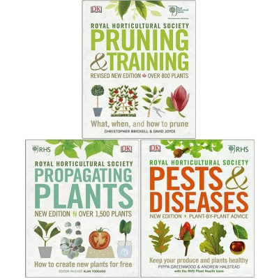 RHS Pruning & Training, RHS Propagating Plants, RHS Pests & Diseases 3 Books Collection Set by David Joyce Christopher Brickell, Royal Horticultural Society Alan Toogood, Andrew Halstead Pippa Greenwood