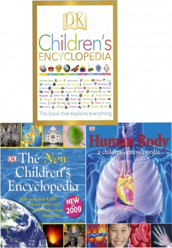 DK Childrens Encyclopedia 3 Books Collection Set (DK Childrens Encyclopedia, The New Childrens Encyclopedia, Human Body) by DK