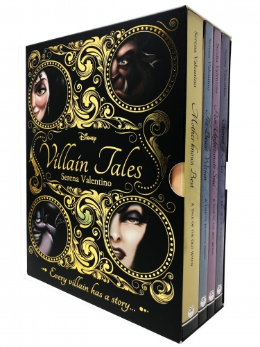 Disney Villain Tales Collection 4 Books Set By Serena Valentino - Snow White, Tangled, Beauty and the Beast, Little Mermaid by Serena Valentino