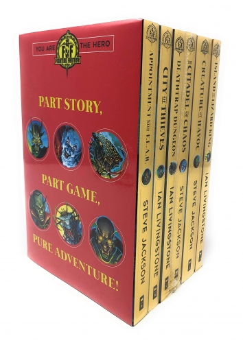 Fighting Fantasy Series Collection 6 Books Set - Island of The Lizard King, Creature of Havoc, the Citadel of Chaos, Death-trap Dungeon and More by Steve Jackson, Ian Livingstone