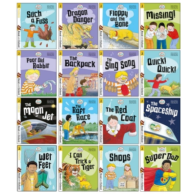 Biff, Chip and Kipper Stage 2 Read with Oxford for Age 4+ School Early Learners - 16 Books Collection Set by Cynthia Rider, Roderick Hunt, Annemarie Young, Nick Schon, Alex Brychta