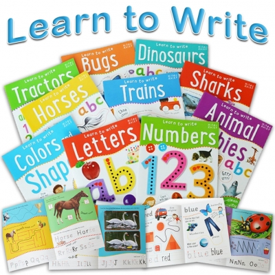 Wipe Clean Learn To Write 10 Books Collection Set For Children Letters Numbers by Belinda Gallagher