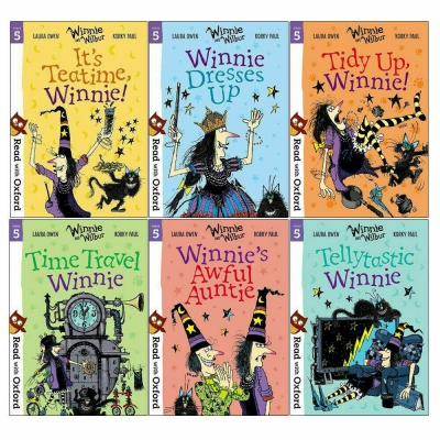 Read With Oxford Winnie and Wilbur (Stage 5) 6 Books Set by Laura Owen and Korky Paul